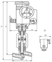 Клапаны запорные 1с с электроприводом типа ПЭМ А 12