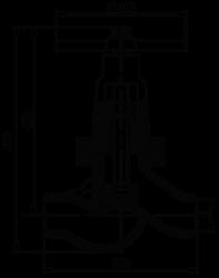 Клапан запорный DN80 1c-7